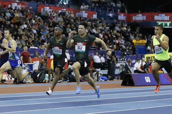 Su takes second straight indoor men's 60m win at Birmingham