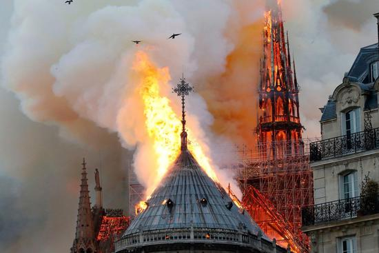 Huge fire breaks out at Notre Dame Cathedral