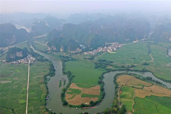 Rural scenery of south China village