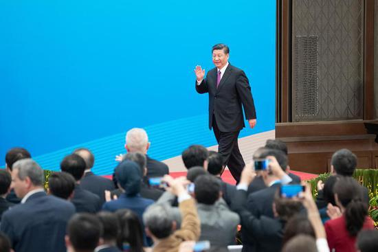 Xi meets the press as second BRF concludes