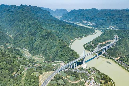 Guizhou section of Tongren-Huaihua highway completed