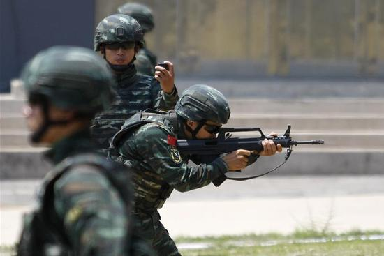 Chinese armed police host int'l counter-terrorism forum