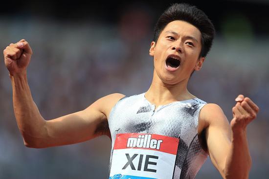 Xie Zhenye breaks Asian men's 200m record in London