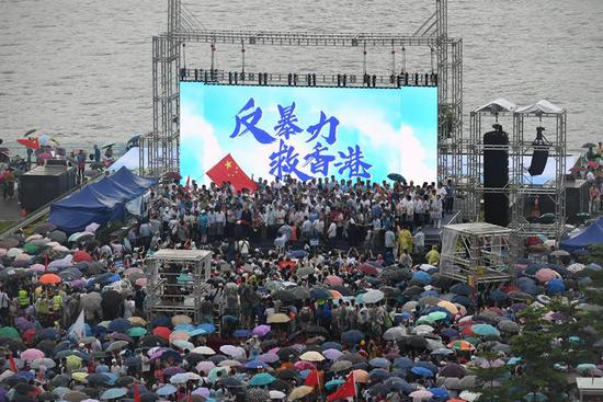 "Over 470,000 people in Hong Kong say ""no"" to violence"