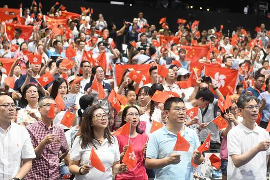Families call for solidarity, harmony in Hong Kong