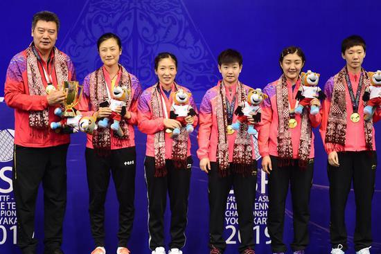China wins women's team crown in 2019 Asian Table Tennis Championships