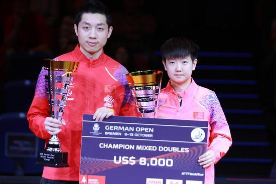 Xu Xin bags two doubles golds at ITTF German Open