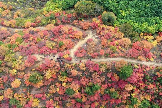 Scenery of Xiantai Mountain scenic area in N China's Hebei