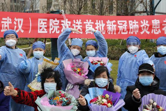 13 patients infected with NCP recovered, discharged from hospital in Wuhan