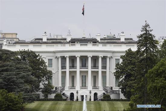 The White House is seen in Washington D.C., the United States, on May 21, 2020. U.S. President Donald Trump on Thursday said the United States is withdrawing from the Treaty on Open Skies, the latest move to abandon a major international arms control agreement. (Photo by Ting Shen/Xinhua)