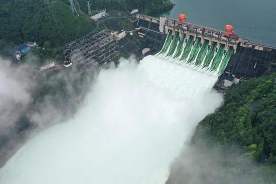 Xin'an River Reservoir opens all spillways to lower crest of local floods