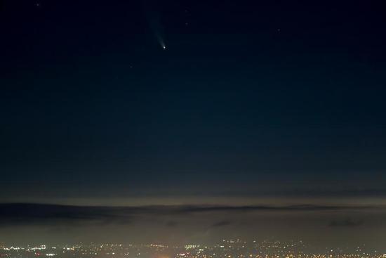 Comet NEOWISE seen in sky over San Francisco Bay Area