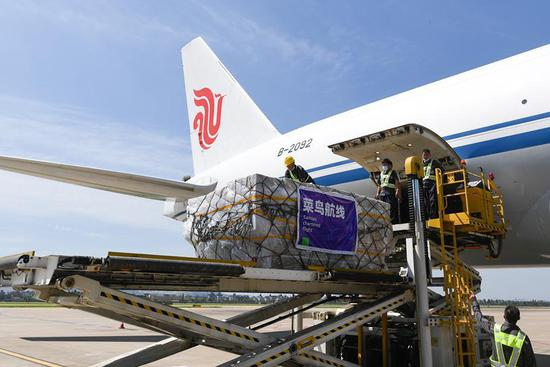 All-cargo air route linking Hangzhou, Madrid launched