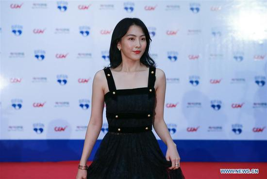 South Korean actress Kang Ji-young appears at the 22nd Bucheon International Fantastic Film Festival red carpet in Bucheon, South Korea, July 12, 2018. The 10-day 22nd Bucheon International Fantastic Film Festival, with its theme as