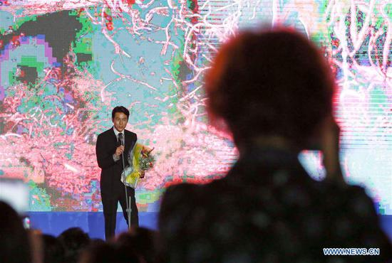 South Korean actor Jung Woo-sung addresses the opening ceremony of the 22nd Bucheon International Fantastic Film Festival in Bucheon, South Korea, July 12, 2018. The 10-day 22nd Bucheon International Fantastic Film Festival, with its theme as
