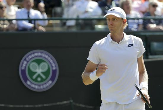 South Africa's Kevin Anderson seen in the game vs Federer