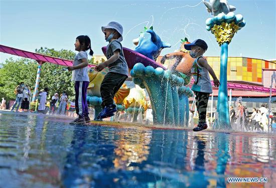 A child plays at Royal Ocean Park in Fushun, northeast China's Liaoning Province, June 1, 2020. June 1 marks the International Children's Day. (Xinhua/Yao Jianfeng)