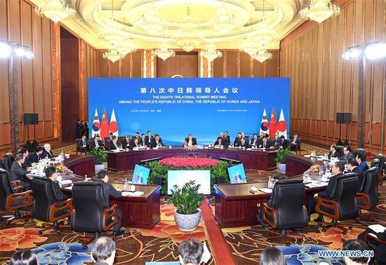 中韩日同意在未来十年深化合作 2