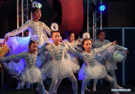 在新西兰惠灵顿举行的中国社区舞台节活动