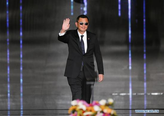 Jury member of the Tiantan Award Wong Kar Wai attends the opening ceremony of the 8th Beijing International Film Festival (BJIFF) in Beijing, capital of China, April 15, 2018. (Xinhua/Meng Dingbo)
