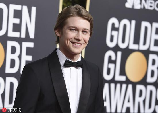 Actor Joe Alwyn arrives at the 76th annual Golden Globe Awards at the Beverly Hilton Hotel on Jan 6, 2019, in Beverly Hills, United States. [Photo/IC]