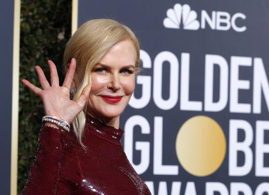 Actress Nicole Kidman arrives at the 76th annual Golden Globe Awards at the Beverly Hilton Hotel on Jan 6, 2019, in Beverly Hills, United States. [Photo/Agencies]