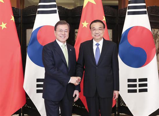 李总理会见韩国总统谈合作