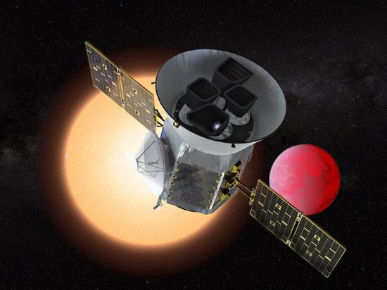 This NASA handout artist's rendition shows the Transiting Exoplanet Survey Satellite (TESS), a NASA Explorer mission launching in 2018 to study exoplanets, or planets orbiting stars outside our solar system (AFP Photo/Handout)