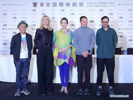 评委出席第32届东京国际电影节新闻发布会 2