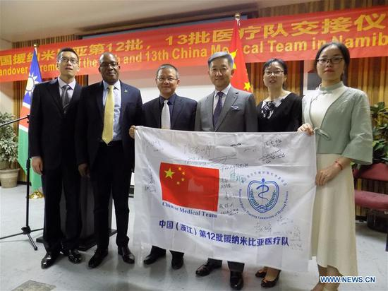 The outgoing 12th Chinese medical team stationed in Namibia managed to administer Traditional Chinese Medicine (TCM) to over 20,000 patients during their one year and a half tenure at the Chinese Acupuncture Department of Katutura State Hospital as well as other facilities in the country.