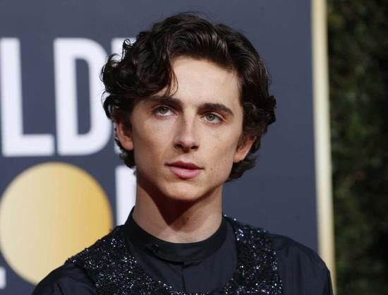 Actor Timothée Chalamet arrives at the 76th annual Golden Globe Awards at the Beverly Hilton Hotel on Jan 6, 2019, in Beverly Hills, United States. [Photo/Agencies]