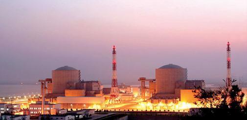 Tianwan Nuclear Power Station in Lianyungang city, Jiangsu province.