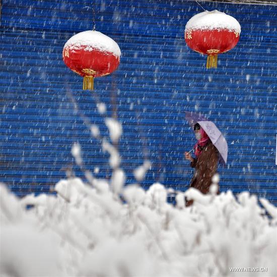 Hulun Buir China  city photos gallery : Snowfall hits Hulun Buir City, N China's Inner Mongolia China News ...