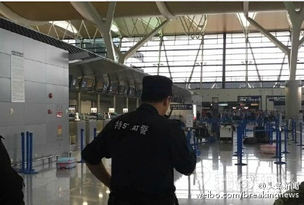 A loud bang has been heard inside the Terminal Two building of Pudong Airport, Shanghai. It was suspected to be an explosion and one person was wounded. Investigation is underway.
