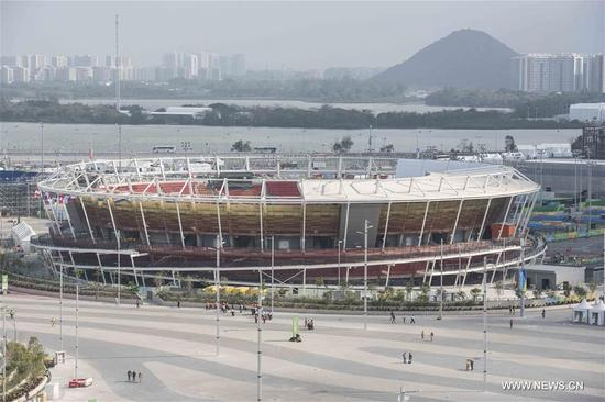 Photo taken on Aug. 2, 2016 shows the Olympic Tennis Centre in Rio de Janeiro, Brazil. The 2016 Olympic Games is scheduled to open on Aug. 5. (Xinhua/Lui Siu Wai)