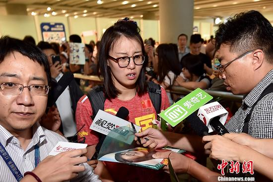 Our new favorite athlete Fu Yuanhui returns from Rio