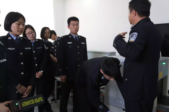Police officers undergo safety checks every day.
