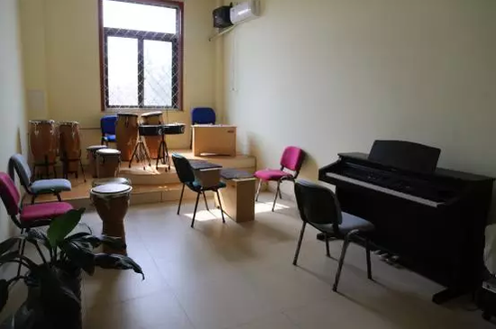 The Music Practice Room.