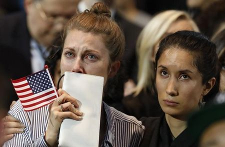 Clinton supporters sad after early election results