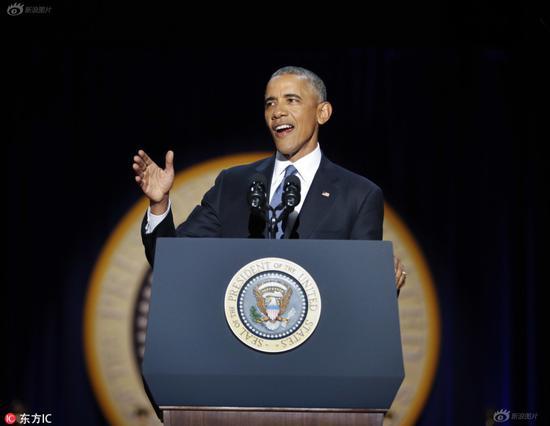 Barack Obama during the farewell speech.