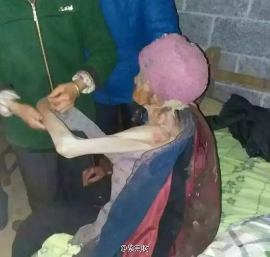 Cruel son locks 92-year-old mum in pigsty for years