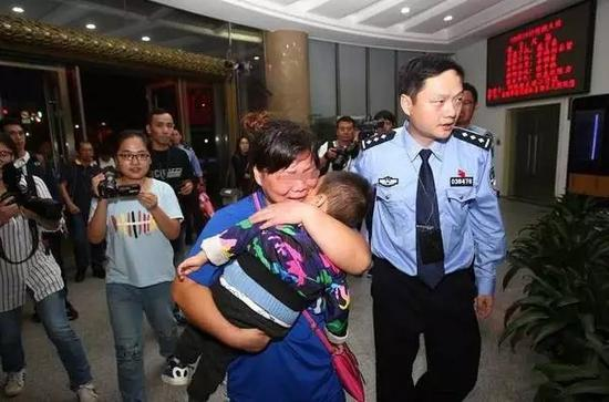 The child was brought back by police.