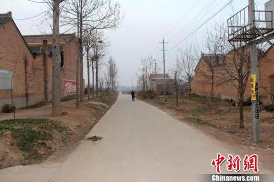 Wang Qi's hometown, Xuezhainan Village in Xianyang city, Shaanxi province.