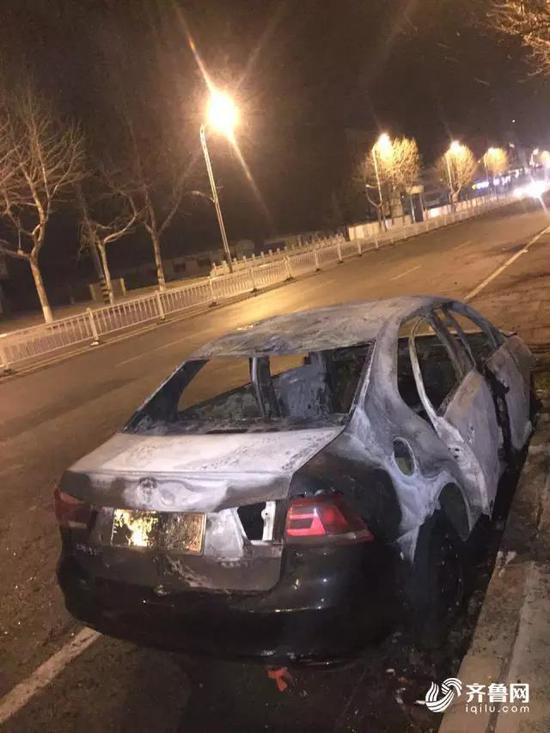 The car was burnt to frames.