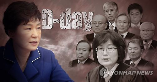 South Korea's Constitutional Court will on Friday deliver a ruling on a parliamentary vote impeaching President Park Geun-hye which could oust her from office and see a snap election within 60 days.
