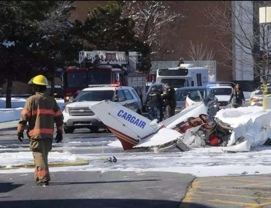 The collision happened around 1 pm on March 17th. One of the planes fell into the shopping centre's parking lot, while the other crashed on the roof.