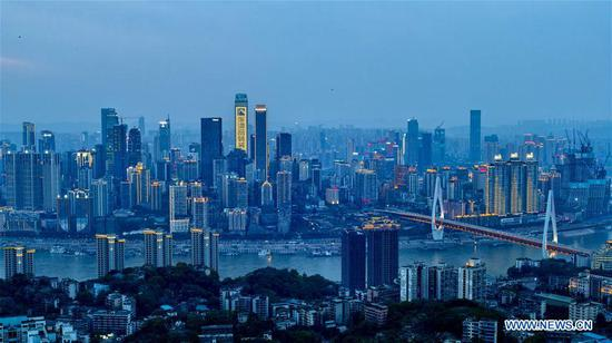 Photo taken on April 22, 2017 shows the scenery of Chongqing, southwest China. (Xinhua/Liu Chan)