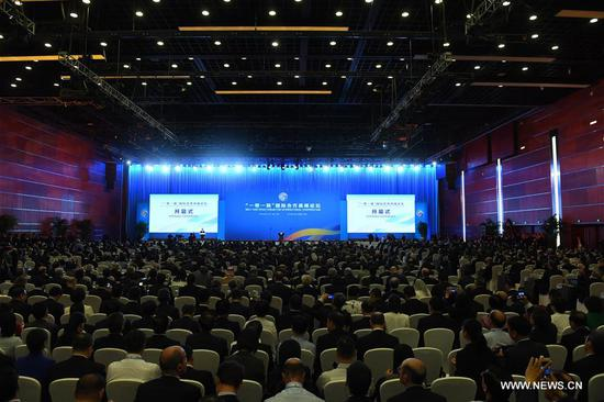 The Belt and Road Forum (BRF) for International Cooperation opens in Beijing, capital of China, May 14, 2017. (Xinhua/Zhang Duo)
