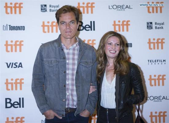 Actor Michael Shannon (L) and Kate Arrington attend the premiere of the film
