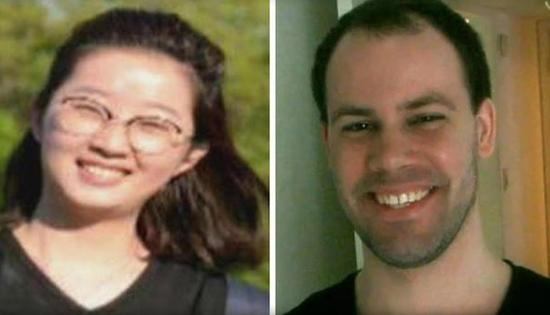 Yingying Zhang, left, and Brent Christensen